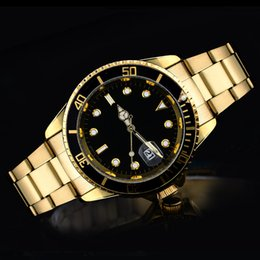 Wholesale Alloy Steel Products - Free shipping new luxury fashion brand product in men and women date new steel clock quartz watches for men