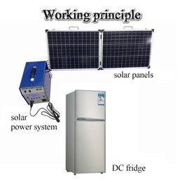 Wholesale Refrigerator 12v Compressor - Wholesale-2016 118L Solar Auto Refrigerator 12v Freezer Compressor Car Cosmetic Refrigerator Soalr Panel Freezer