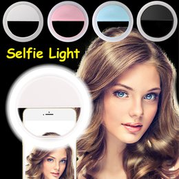 Wholesale Iphone Flash Ring - New Selfie Ring Light Portable Flash Led Camera Phone Photography Enhancing Photography For Smartphone iPhone Samsung
