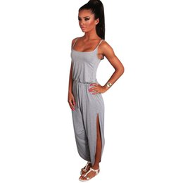 Wholesale Wholesale Clubwear For Women - Wholesale- New Sexy Ladies Jumpsuits for Women 2017 Romper Long Trousers Summer Clubwear Clothing