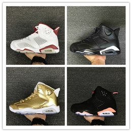 Wholesale Women Tennis Tops - Drop shipping air retro 6 mens basketball shoes top quality hare sneaker Infrared Oreo black cat sneaker Pinnacle Metallic Gold Running Shoe