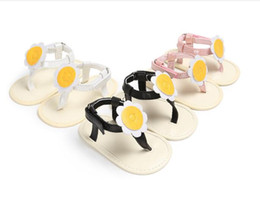 Wholesale China Infant Shoes - Drop shipping Cute sunflower baby sandals!Summer toddler shoes,soft 0-18 M princess shoes,china kids shoes,infant shoes!9pairs 18pcs.SX