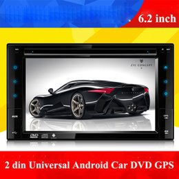 "Wholesale Car Stereo Dvd Gps Camera - Universal 2 din 6.2"" Android Car DVD Player with AM FM Bluetooth GPS Car Audio Radio Stereo USB SD,support rear view camera and steering"