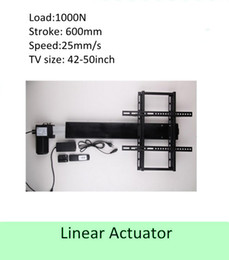 Wholesale Motor Actuator - free shipping 600mm stroke 42''-50''TV usage wireless tv lift linear actuator can used for cabinet and bed