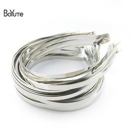 Wholesale Metal Headband Silver - BoYuTe 20Pcs Metal Stainless Steel Hair Band Width 2MM 3MM 4MM 5MM 6MM 7MM 8MM 10MM Hairband for Women Diy Hair Accessories