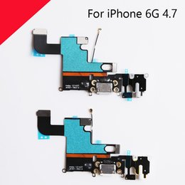 Wholesale Top Iphone Charging Dock - Top Quality For iPhone 6 6G Charger Charging port Dock USB connector flex cable replacement Parts