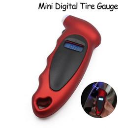 Wholesale Lcd Digital Gauges For Motorcycles - Free DHL Mini Digital Tire Gauge Tire Diagnostic LCD Display Universal Car Digital Tire Pressure Tool Gauge for Car Motorcycle Bike