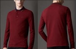 Wholesale Repair Body - New summer casual POLO shirt long sleeve T shirt lapel body repair men's cotton bottoming shirt 04 package shipping 01