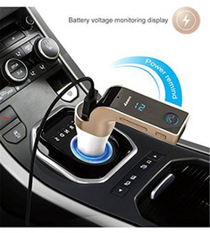 Wholesale Car Mp3 Player Aux - Original G7 Bluetooth Car Kit Handsfree FM Transmitter Radio MP3 Player 2.1A USB Car Charger & AUX TF Cards Slots for Smartphone