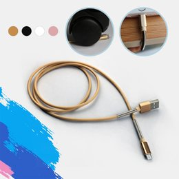 Wholesale Spring Steel Wire Wholesalers - Micro USB Cable Metal Spring Coil Protectio Lightning Charging Cable Steel Line Charger Adapter Wired For iPhone 6 Samsung HTC LG SmartPhone