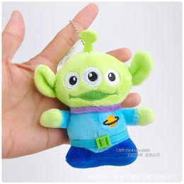 Wholesale Wholesale Alien Stuff - High Quality Alien Bear Plush Toys cartoon sully dragon Stuffed Plush dolls bags pendant for kids gifts