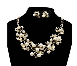 Wholesale Wholesale Bridal Jewelry Cheap - luxury sparkly Jewelry Sets for Wedding Prom Evening Cocktail Bridal Accessories Shinning Cheap In Stock