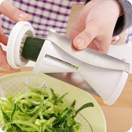 Wholesale Easy Promotions - BIG PROMOTION!! Spiral Slicer Spirelli Grater Vegetable Fruits Funnel Julienne Easy Spiral Fruit Slicer Twister Cuisine Cutter Factory DHL