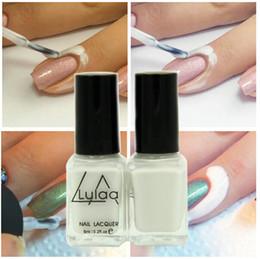 Chiodi a nastro online-All'ingrosso- Lulaa 1pc Base Coat Care Nail Polish Peel Off Liquid Facile da pulire Nail art Tape Latex Tape Finger Skin Protected Liquid Palisade