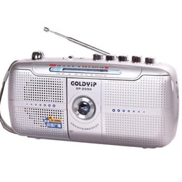 Wholesale Frequency Receiver - Wholesale-Goldyip   elderly full band portable Frequency recorder Modulation Radio FM Tape player Digital World Receiver & External Antenn