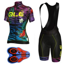Wholesale Cycling Jersey Woman Black - 2017 ALE Pro team Women Cycling Jersey set Breathable Mountain Bike Clothes Quick Dry Bicycle clothing Sportswear Set bib Shorts F2711