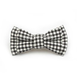 Wholesale Bow Tie Pin - Wholesale- Fashion boys Pin bow tie small size for kids New Style gift Plaid Dot