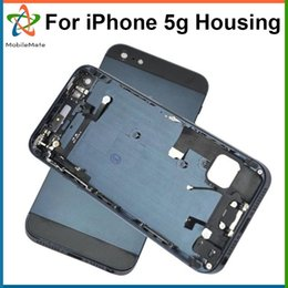 Wholesale Full House Complete - Complete Battery Housing Case Back Cover For iPhone 5 5G Full Middle Frame Phone Housings Replacement Free Shipping