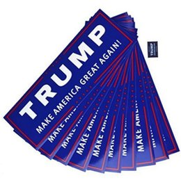 Wholesale great accessories - 1000pcs Lot Car Decals Donald Trump Stickers for President Make America Great Again Bumper Sticker Exterior Accessories 4584