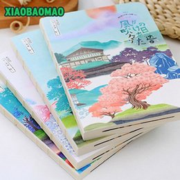 Wholesale Japanese Notebook Wholesale - Wholesale- 132 * 183 * 13mm New fashion Blank Paper Diary Sketchbook Japanese painting style Notebook   Notepad Memo   Diary   Wholesale