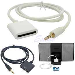 Wholesale Iphone Cable Pins - Wholesale-Stereo 3.5mm 30 Pin AUX Input Dock Connector Cable Adapter For iPhone 4 4S iPod