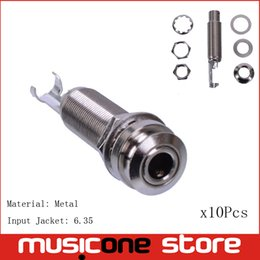 Wholesale Endpin Jack - Wholesale- 10PCS Chrome Metal CYLINDER Guitar Endpin Jack Nickel With Strap Lock high quality