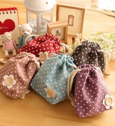 Wholesale Cheap Cute Bags Purses - Wholesale- New Brand Mini Cute Women Coin Purses Cheap Casual Sackcloth Coin Bags For Women Fashion Women Bags