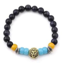 Wholesale Mala Turquoise - Buddha Meditation Prayer chakra stones bracelet mala beads lava energy bracelets for women mens beaded Strands bracelets