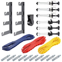 Wholesale Photography Mount - Neewer Photography 4 Roller Wall Mounting Manual Background Support System:(2)Four-fold hooks+(6)Expand bars+(3)Chains+(10)Clamp