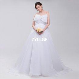 2017 White A Line High Quality Strapless Lace Up Wedding Dresses Sheer Princess Bridal Gowns Dress Vestido De Novia