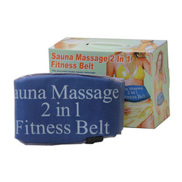 Wholesale Relax Tone - 2 in 1 Electric Vibrating Sauna Fitness Massage Belt Body Health Care Beauty Massager Heating Tone RELAX TONE Fat Weight Losing