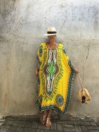 Wholesale Casual Folk Style Dresses - 2017 women's wear hot style loose fit slouchy gown South America style dress gypsy fashion hippie clothing bohemian folk dress