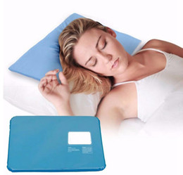 Wholesale ice cooling mat - Summer Ice Pad Massager Therapy Insert Chillow Sleeping Aid Pad Mat Muscle Relief Cooling Gel Pillow KKA1847