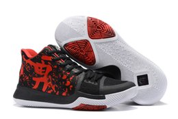 Wholesale Lace Punch - Kyrie 3 Samurai Hot Punch Black Ice Hyper Cobalt Wolf Grey Xmas ASG Mens Basketball Shoes Team Red Kyrie Irving Sneakers men trainers