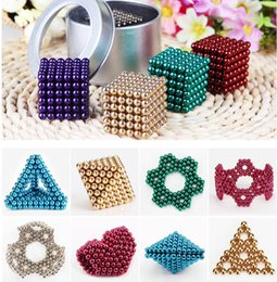 Wholesale Magnet Neo - 5mm 216 pcs Neo Cube Magic Puzzle Metaballs Magnetic Ball With Metal Box, Magnet Colorfull Magic Toys