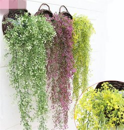 Wholesale Wholesale Greenery - New Arrivals Osier Rattans Plant Plastic Wicke Bracketplant Vine Fake Greenery for Wedding Party Artificial Decorative Flowers