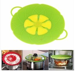 Wholesale Boiling Pan - Cooking Tools Flower Petal Boil Spill Stopper Silicone Pot Lid Cover For Pan Cookware Parts Kitchen Accessories