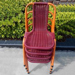 Wholesale Outdoor Rattan Sofas - Hand-woven wicker chair outdoor   indoor patio garden rattan chair sofa American casual chair furniture 3 colors