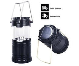 Wholesale Rechargeable Bulb Solar - LED 9W Portable Light for Outdoor Recreation with USB Power Bank Charge Phones Ultra Bright Camping Lantern Solar Rechargeable free shipping