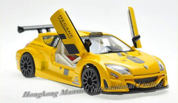 Wholesale Model Car Renault - 1:32 Scale Alloy Diecast Metal Car Model For Renault Megane Collection Model Pull Back Racing Toys Car With Sound&Light