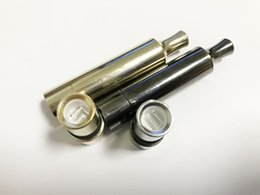 Wholesale Cannons Gun - New Gold Gun Black T3 Metal wax Vaporizer straight tube Dual Quartz Ceramic Rod replacement Coils VS ego D Skillet Globe Cannon Atomizer
