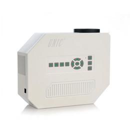 Caso bianco gioco online-Vendita all'ingrosso UC30 Mini LED proiettore portatile Proiettori bianchi 1080 P Home Theater Movie Game con VGA HDMI USB TF Ports Beamer Spedizione DHL