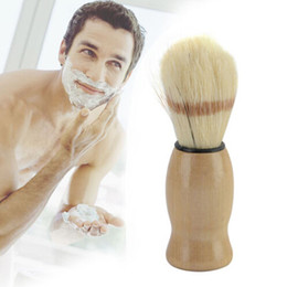 Wholesale Shaving Brush Handles - Branded Man Face Cleaning Brush Black Handle Superfine Pure Blaireau Shaving Beard Brush Shaving Brush Male Cleaning Tool
