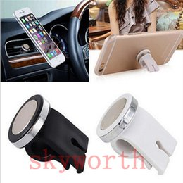Wholesale Car Magnets Free Shipping - NEW mini Modish Car Air Vent Magnet Phone Holder Mount Stand ABS + Alloy Material Magnetic for iPhone Phone GPS free shipping