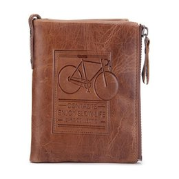 Wholesale Crazy Price - Brand Men Wallets Dollar Price Genuine Crazy Horse Cowhide Leather Male Purse With Coin Bags Card Holder Mini Wallet M2015