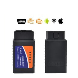 Wholesale Elm 327 Wireless - Wifi ELM 327 Wireless Code Scanner OBD2 car diagnostic tool interface scanner Code Reader Fault Diagnosis Instrument Vehicle Spectrum Analyz