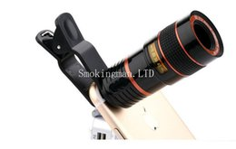 Wholesale Mobile Telephoto - Mobile Phone Telescope 8X Zoom Lens Magnification Magnifier Optical Telephoto Camera Lens For iPhone Samsung Galaxy HTC Retail Package DHL