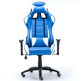 Wholesale Office Chair Armrest Covers - Home Computer Office Racing Chair WCG Gaming Chair With Bow Wheeled Base Adjusting Armrest Blade Diamond Vane Cover Patterns