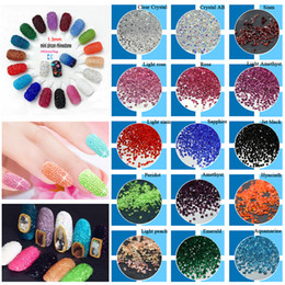 Wholesale Diy Flat Backs - New 1440Pcs Micro Diamond DIY Nails Rhinestones Crystal Flat Back Non Hotfix Rhinestones stickers Need Glue Nail Art Decoration