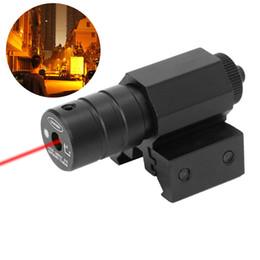 Wholesale Gun Rail Laser - Red Dot Laser Sight Rifle Gun Mount Scope Rail Switch for Rifle Pistol Hunting